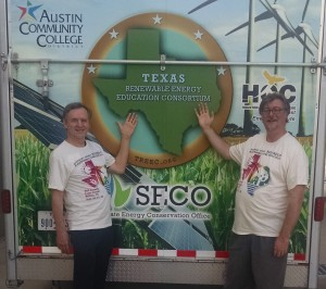 Chris and Kent at Renewable Energy Roundup & Sustainable Living Expo 2014